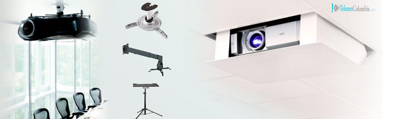 Bases y soportes para video proyectores en medellin - Soporte pared proyector ...